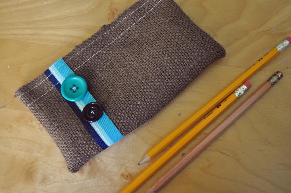 button and burlap Button & Burlap Pencil Case II