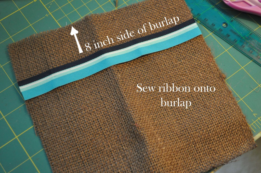 Ribbon Onto Burlap