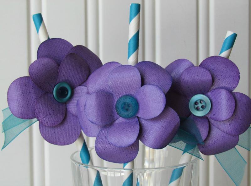 purple button flower tutorial