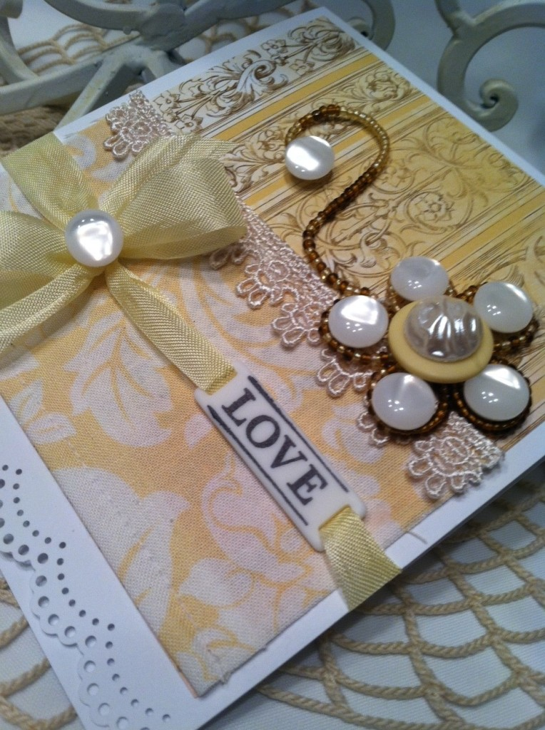 wedding card to make the  Ivory Pearl Haberdashery wedding favors: