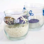 Wedding Votives with Dragonfly  Decor Art by Jen Goode