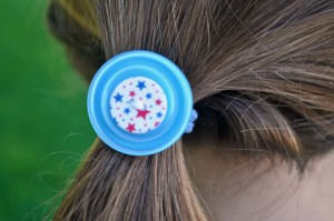 DIY Button Hair Accessories by Laura Bray on the Buttons Galore & More Blog