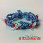 Patriotic Bracelet with Buttons and Ribbon