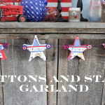 Americana Decorations: Buttons and Stars Garland