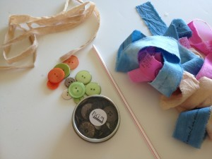 buttons and supplies