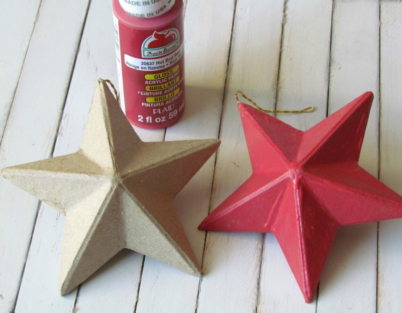painted paper mache star