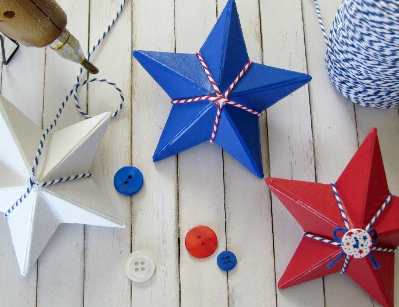 Twine Paper Mache Star