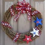 Seasonal Door Wreath - Red White and Blue