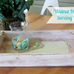 Distressed Serving Tray embellished with Buttons