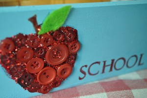 Make a Back to School Homework Organizer with Buttons Galore