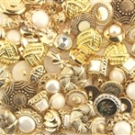 Fancy Gold Grab Bag Buttons