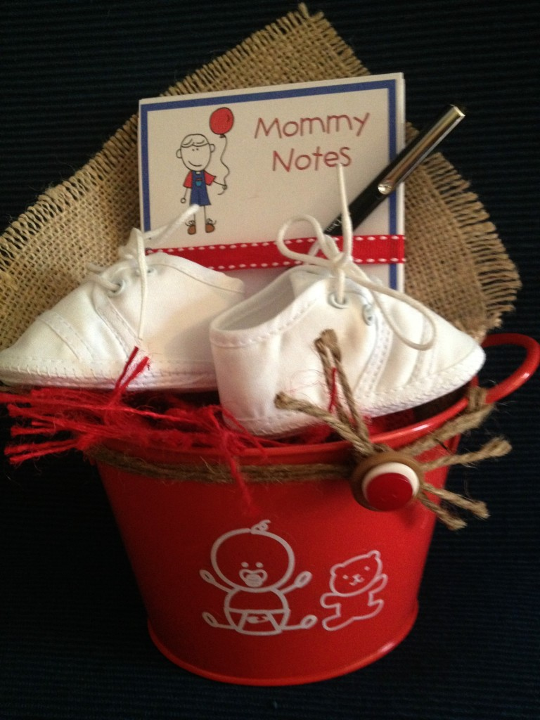 baby gift bucket by Niki Meiners