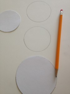 trace circles on foam core