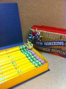 Create a fun storage tray for pencils.