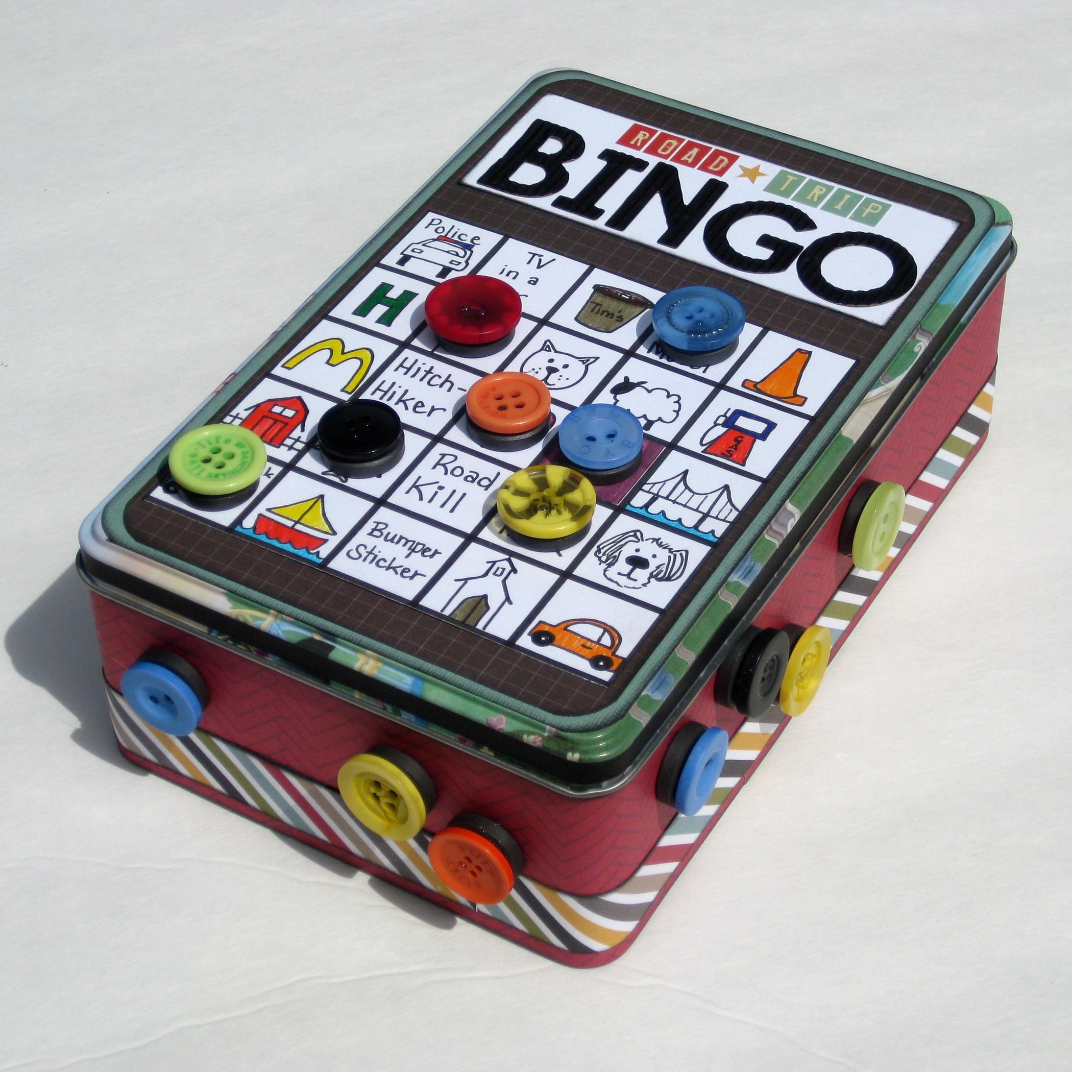 Road Trip Bingo Tin