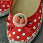Retro Cherry Shoe Clips