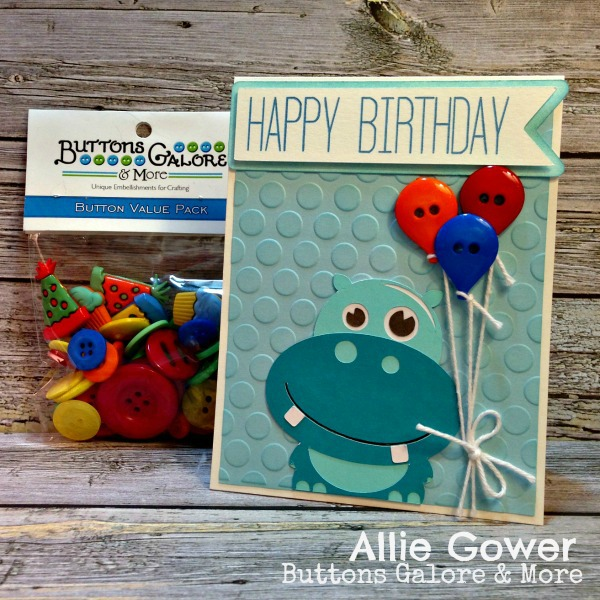 Create a Birthday Card using the Birthday Button Assortment.