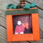 wooden pumpkin crafts - DIY a Photo Frame