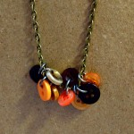 button jewelry, button charms, fall necklace