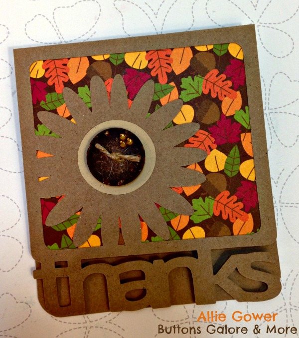 Fall Thank You Card #buttonsgalore #silhouette