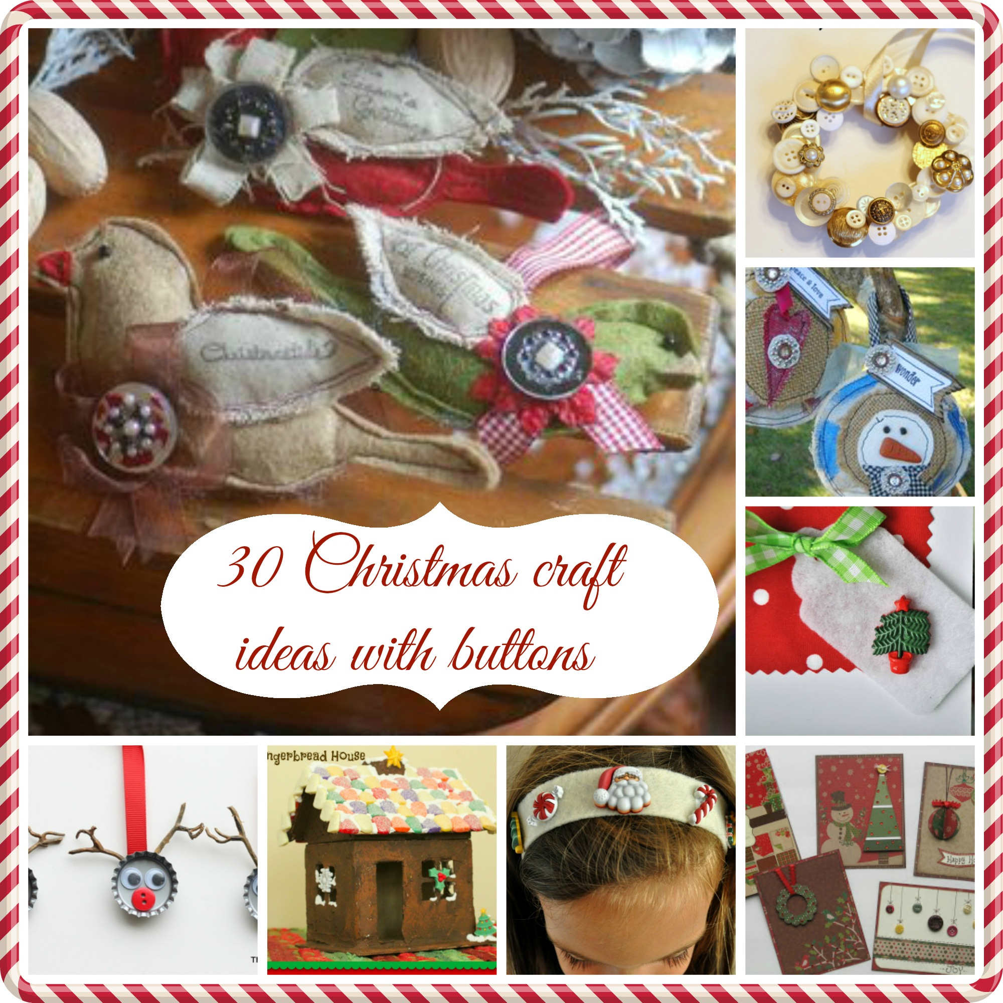 30 Christmas Craft Ideas With Buttons