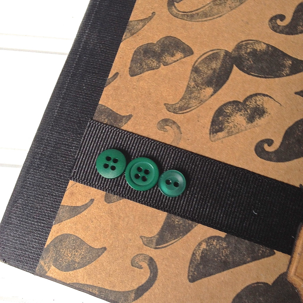 mustache notebook craft idea movember