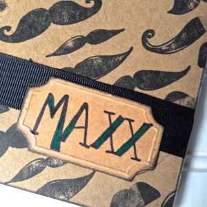 Mustache craft with name plate