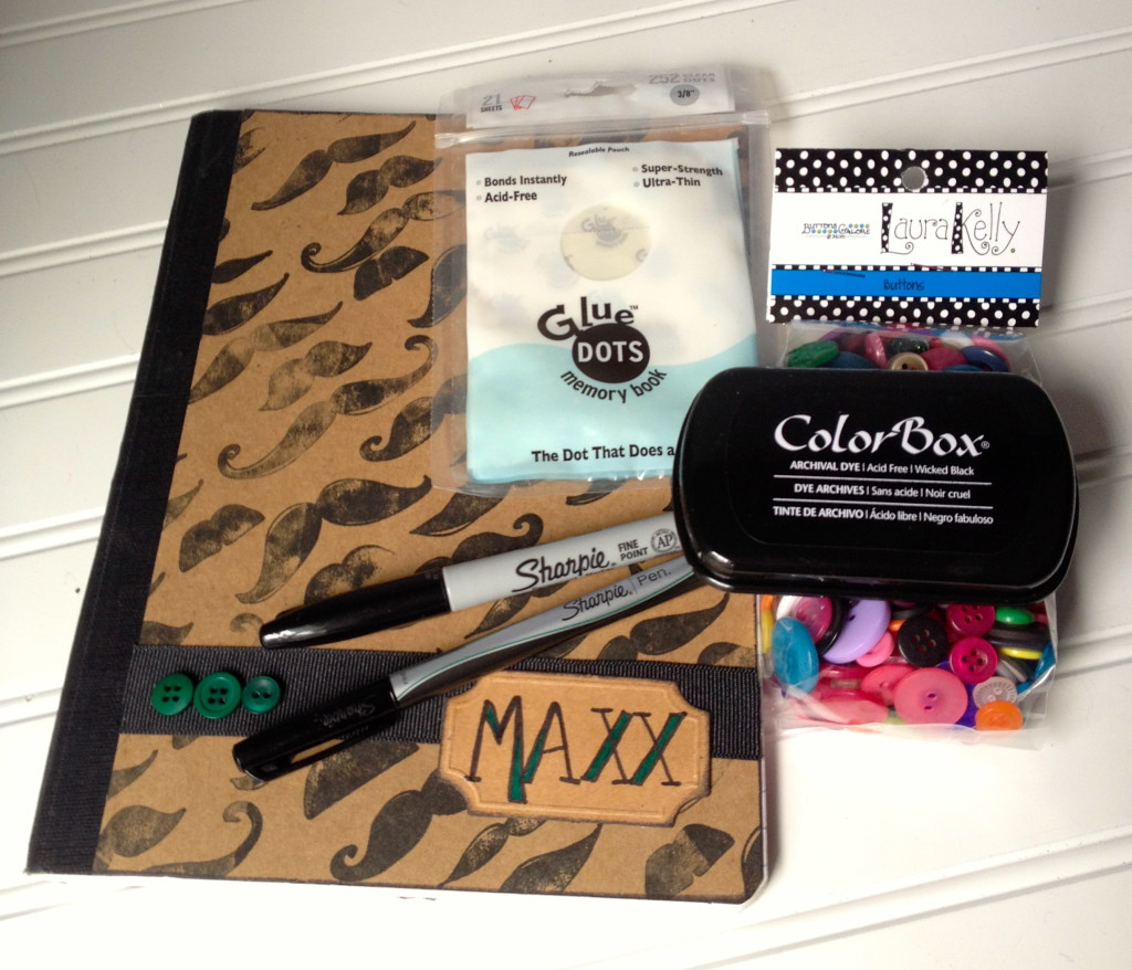 Movember mustache craft idea supplies