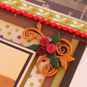 sweet, simple embellishments using buttons and clay. DIY embellishments with red buttons.