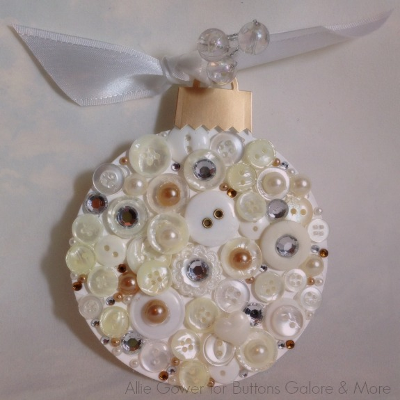 Buttons and Bling Ornament