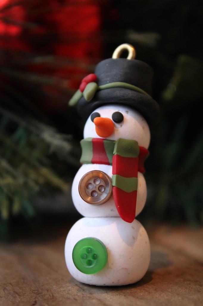 Snowman, clay snowman