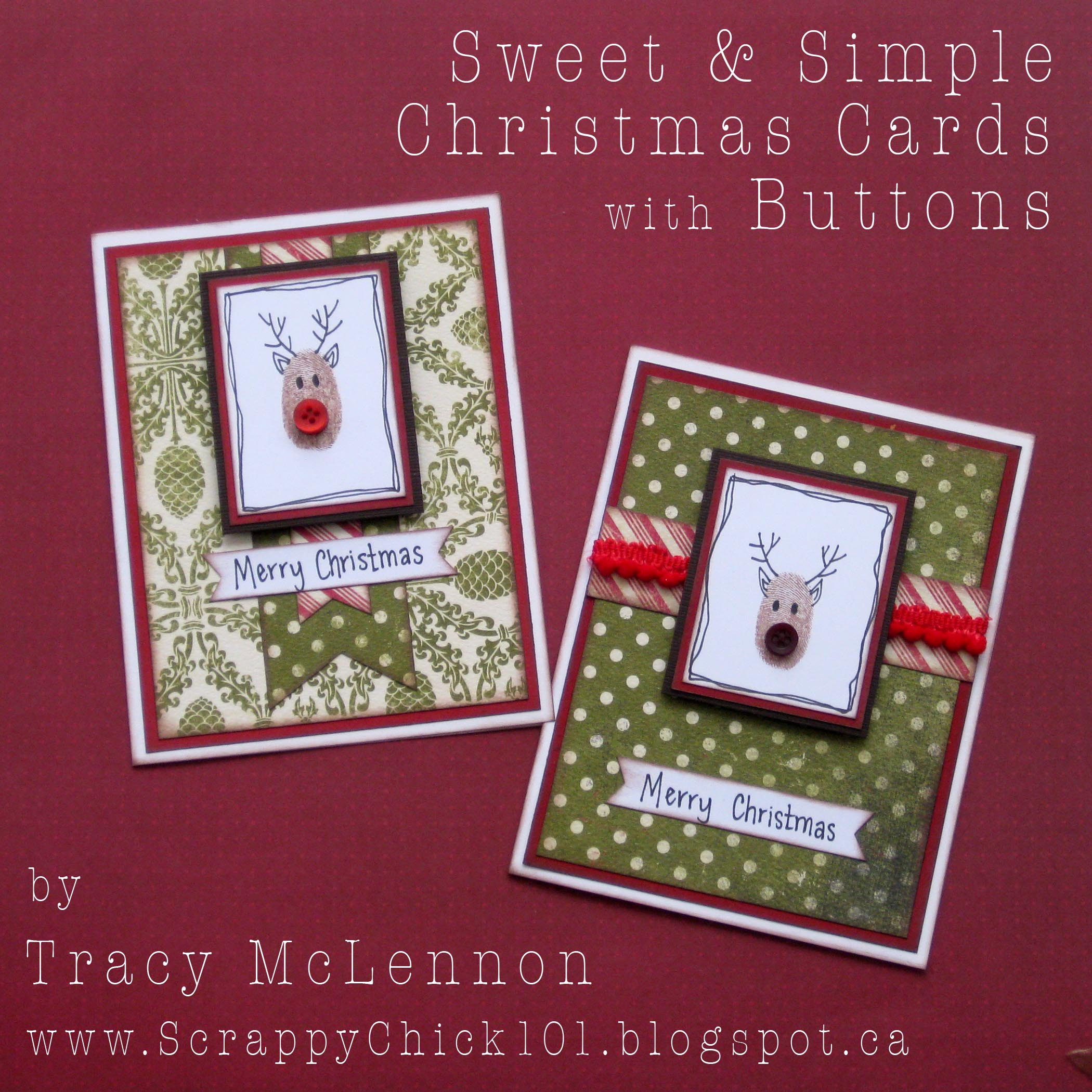 Simple Christmas Cards With Buttons