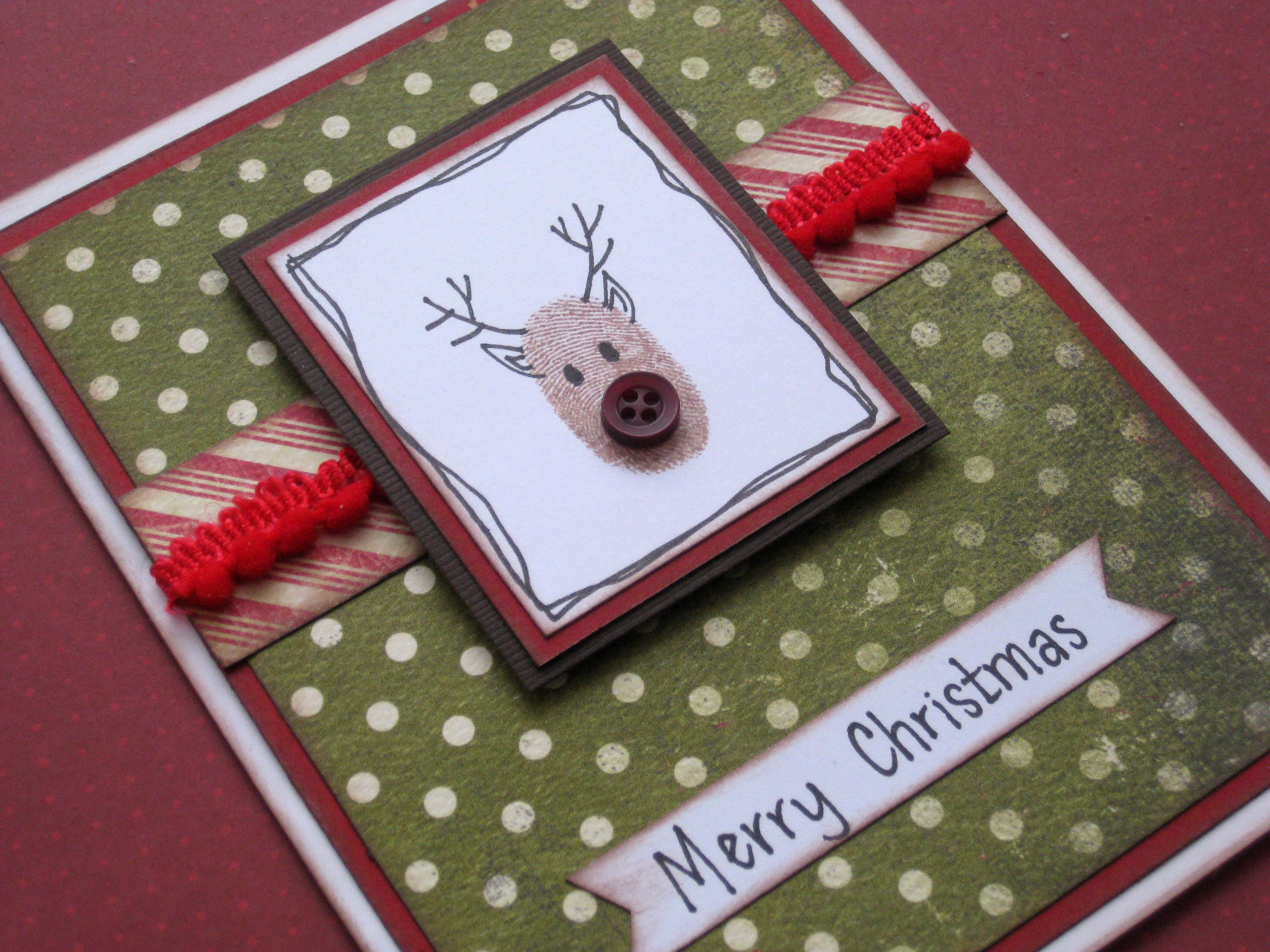 simple christmas cards with buttons. Black Bedroom Furniture Sets. Home Design Ideas
