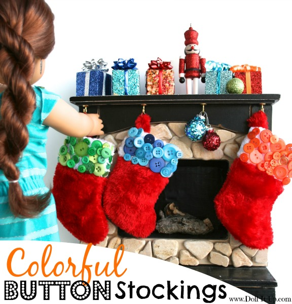 christmas craft, holiday buttons, doll diy, Christmas DIY