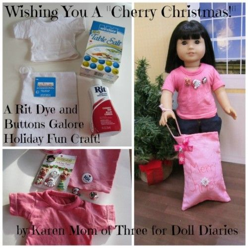 Doll Diaries, Rit Dye, Buttons Galore