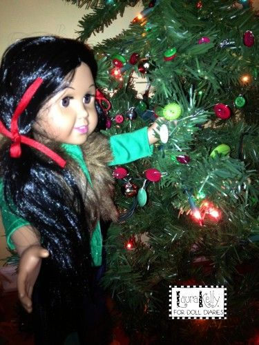 Doll Diaries, Laura Kelly Buttons, Christmas DIY
