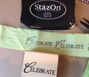 stamped ribbon