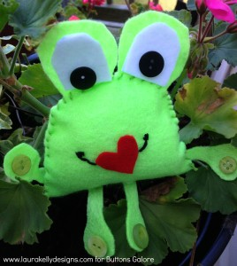 Valentines Day Frog
