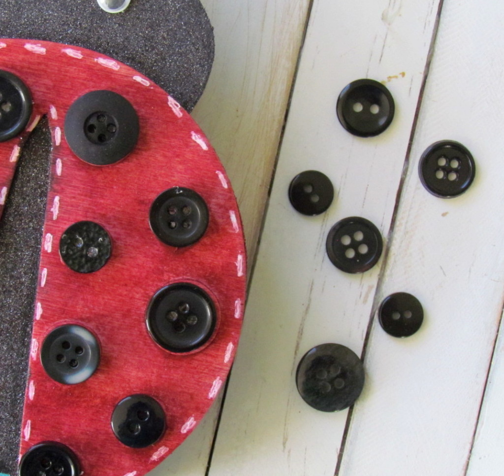 Ladybug with black buttons