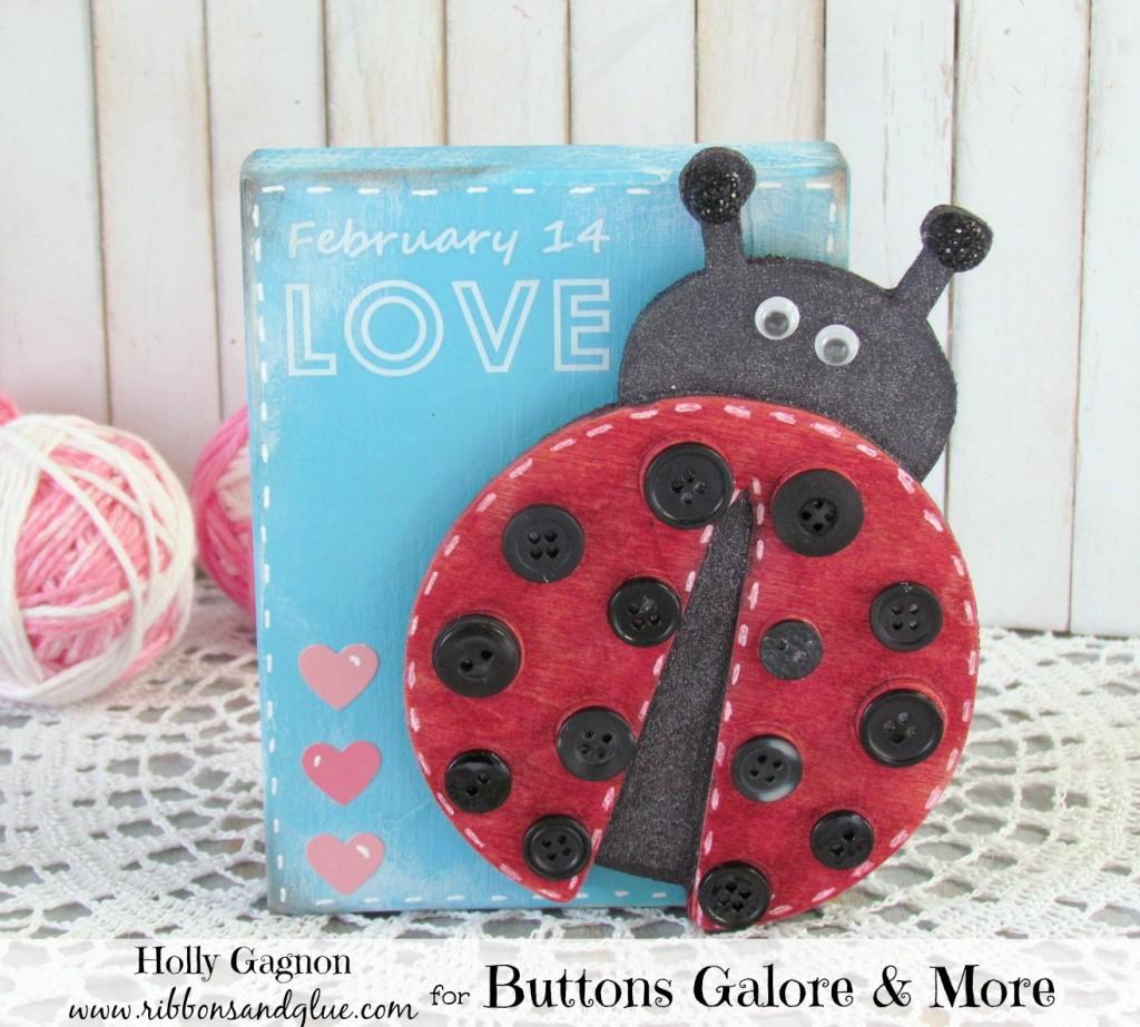 Button Ladybug Valentine
