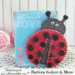 Button Ladybug Valentines