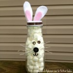 Up-Cycled Frap Bottle Bunny - Fifteen MINUTE Friday