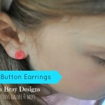 Quick and Easy Button Earrings