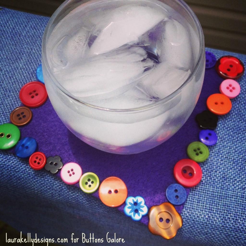 Button Felt Coaster