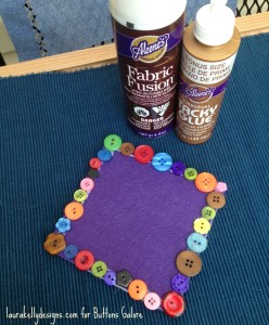 Buttons and Aleenes Coaster