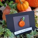 Little Pumpkin Button Cards for Fifteen MINUTE Friday