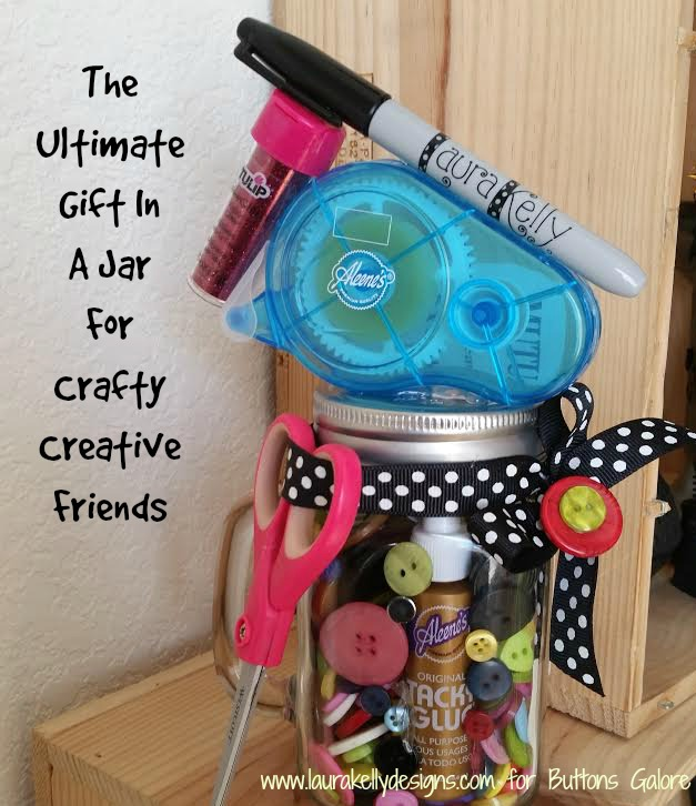 Create A Crafty Jar Gift in Fifteen Minutes