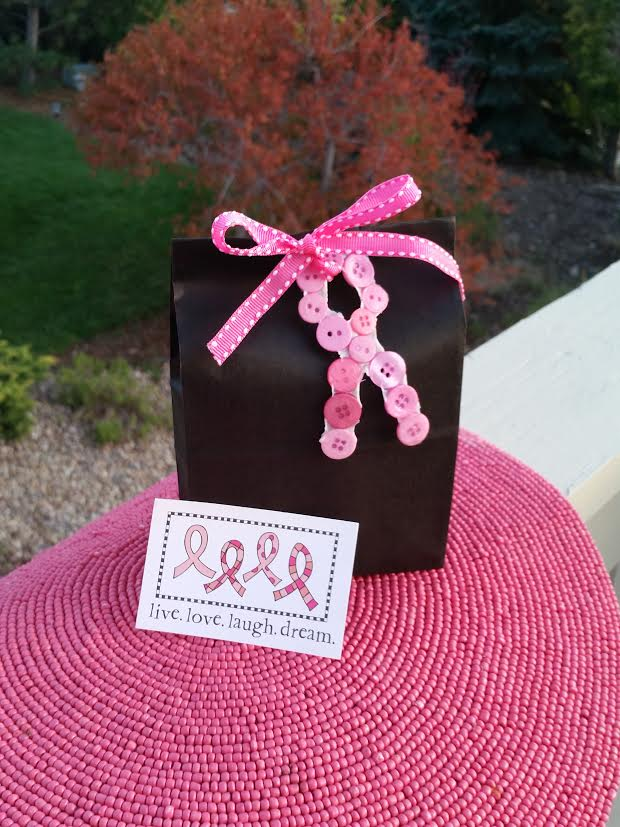 Button Pink Ribbon