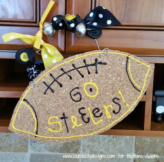 Steelers Football Cork Sign