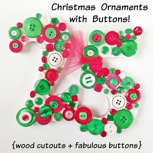 Button Up Some Christmas Ornaments with Laura from Pet Scribbles!